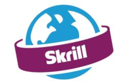 logo skrill design globe